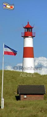 Ellenbogen (Ost) auf der Insel Sylt., Leuchtturm, Deutschland, Schleswig-Holstein, Insel Sylt, Sylt, Ellenbogen