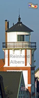 Das Unterfeuer Mielstack am Elbdeich bei Lühe wird heute als Wohngebäude genutzt., Leuchtturm, Deutschland, Niedersachsen, Altes Land, Elbe, Lühe