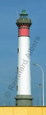 Ouistreham an der Orne-Mündung in der Normandie., Leuchtturm, Frankreich, Normandie, Ouistreham