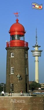 Bremerhaven, Nordmole, Geestemündung, Leuchtturm, Deutschland, Bremerhaven, Nordmole, Geestemündung