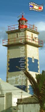 Cascais westlich von Lissabon., Leuchtturm, Portugal, Cascais