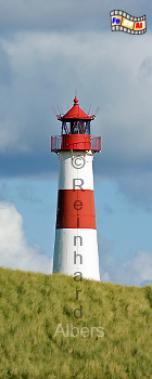 Ellenbogen (Ost) auf der Insel Sylt., Leuchtturm, Deutschland, Schleswig-Holstein, Nordseeküste, Sylt, Ellenbogen