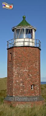 Der alte Leuchtturm von Kampen auf der Insel Sylt., Leuchtturm, Deutschland, Schleswig-Holstein, Nordseeküste, Sylt, Kampen