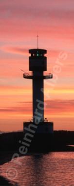 Kiel-Friedrichsort mit Morgenrot, Leuchtturm, Deutschland, Schleswig-Holstein, Ostseeküste, Kiel, Friedrichsort, Kieler Förde