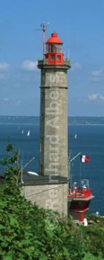 Le Portzic westlich von Brest (Rade de Brest), Leuchtturm, Frankreich, Bretagne, Brest, Portzic