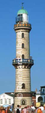 Warnemünde in Mecklenburg-Vorpommern, Leuchtturm, Deutschland, Mecklenburg-Vorpommern, Warnemünde