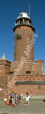 Kołobrzeg (Kolberg) ist Teil der Festung an der Mündung der Perseta (Persante) in die Ostsee - Polen., Leuchtturm, Polen, Pommern, Ostseeküste, Kolobrzeg, Kolberg