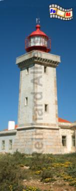 Alfanzina östlich von Carvoeiro in der Algarve., Leuchtturm, Portugal, Algarve, Carvoeiro, Alfanzina