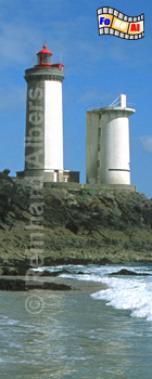 Le Petit Minou in der Bucht von Brest in der Bretagne., Leuchtturm, Frankreich, Bretagne, Brest, Le Petit Minou