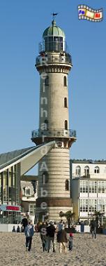 Warnemünde in Mecklenburg-Vorpommern., Leuchtturm, Deutschland, Mecklenburg-Vorpommern, Ostseeküste, Warnemünde
