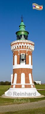 Bremerhaven - Ostfeuer an der früheren Kaiserschleuse, wird aufgrund seiner freihängenden Glocke auch Pingel-oder Klingelturm genannt. Er stammt aus dem Jahr 1900, Leuchtturm, Deutschland, Bremerhaven, Ostfeuer, Pingelturm