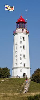 Leuchtturm Dornbusch im Norden der Insel Hiddensee., Leuchtturm, Deutschland, Mecklenburg-Vorpommern, Insel Hiddensee, Hiddensee, Dornbusch