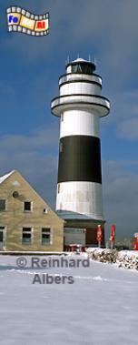 Der Leuchtturm von Kiel-Bülk befindet sich an der Westseite der Einfahrt zur Kieler Förde., Leuchtturm, Deutschland, Schleswig-Holstein, Ostseeküste, Kieler Förde, Kiel, Bülk