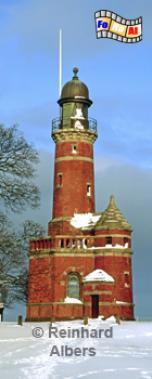 Der Leuchtturm aus dem Jahr 1895 markiert die Einfahrt zum Nord-Ostsee-Kanal in Kiel Holtenau., Leuchtturm, Deutschland, Schleswig-Holstein, Ostseeküste, Kiel, Holtenau, Kiel-Holtenau, Nord-Ostseekanal