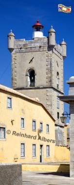 Portugal - Leuchtturm in der Festung São Juliao da Barra bei Lissabon., Leuchtturm, Portugal, Lissabon, Festung, Forte, Forteleza, Barra