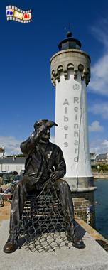 Bretagne - Im Hafen von Port Haliguen auf der Presqu île de Quiberon, Leuchtturm, Bretagne, Port Haliguen, Quiberon, Foto, Albers, foreal
