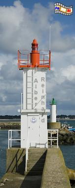 Bretagne - Hafeneinfahrt von Port Haliguen, Leuchtturm, Bretagne, Port Haliguen, Quiberon, Foto, Albers, foreal