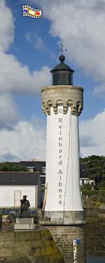 Bretagne im Hafen von Port Haliguen auf der Quiberon-Halbinsel., Leuchtturm, Bretagne, Port Haliguen, Quiberon, Foto, Albers, foreal