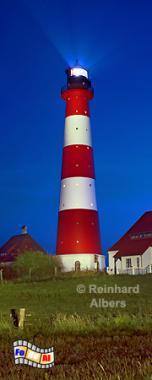 Westerhever auf der Halbinsel Eiderstedt, Leuchtturm, Nordseeküste, Eiderstedt, Westerhever, Foto, Albers, foreal