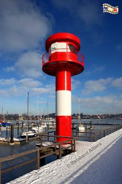 Neuer Leuchtturm im Hafen von Eckernförde, Leuchtturm, Phare, Lighthouse, Eckernförde, Ostsee, Foto, foreal, Albers,