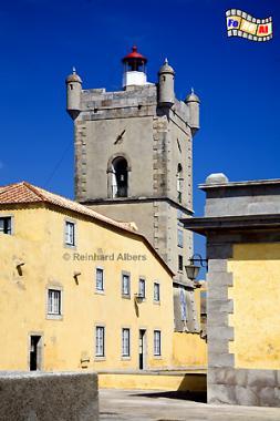 Portugal - Leuchtturm in der Festung Sao Juliao da Barra bei Lissabon., Leuchtturm, Portugal, Lissabon, Festung, Forte, Forteleza, Barra, Albers, Foto, foreal, Lighthouse, Phare, Farol,