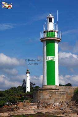 Bénodet in der Südbretagne., Leuchtturm, Lighthouse, Phare, Albers, Foto, foreal, Bénodet, Bretagne,