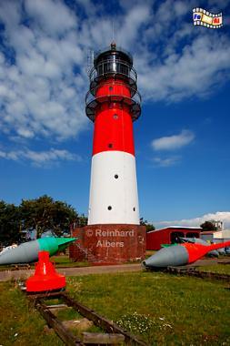Büsum an der Nordseeküste in Schleswig-Holstein., Leuchtturm, Lighthouse, Phare, Büsum, Nordsee, Dithmarschen, Albers, Foto, foreal,
