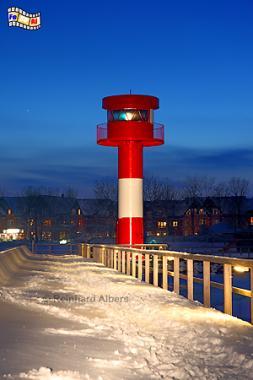 Neuer Leuchtturm im Hafen von Eckernförde am 30. Januar 2010., Leuchtturm, Phare, Lighthouse, Eckernförde, Ostsee, Foto, foreal, Albers,