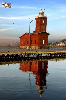 Polen - Darłówko (Rügenwaldermünde), Polen, Polska, Leuchtturm, Lighthouse, Phare, Latarnia Morska, Darlowko, Rügenwaldermünde, Albers, Foto, foreal,