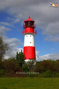 Falshöft nördlich von Kappeln in der Landschaft Angeln, Leuchtturm, Ostseeküste, Lighthouse, Phare, Falshöft, Pommerby, Albers, Foto, foreal,