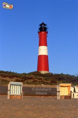 Hörnum in der Morgensonne, Leuchtturm, Lighthouse, Phare, Sylt, Hörnum, Foto, Albers, foreal,