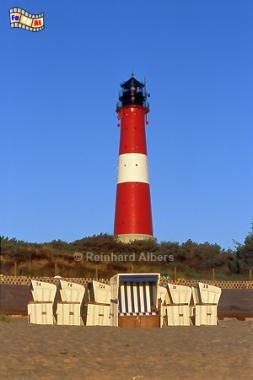 Hörnum in der Morgensonne., Leuchtturm, Lighthouse, Phare, Sylt, Hörnum, Foto, Albers, foreal,