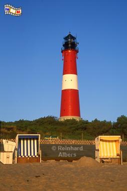 Morgenstimmung beim Leuchtturm von Hörnum auf der Insel Sylt., Leuchtturm, Lighthouse, Phare, Sylt, Hörnum, Foto, Albers, foreal,