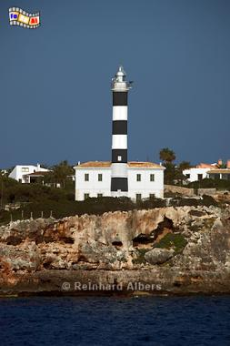 Mallorca - Portocolom, Spanien, Mallorca, Portocolom, Leuchtturm, Phare, Lighthouse, Far, Albers, Foto, foreal,