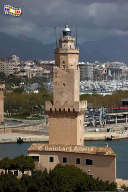 Palma de Mallorca - Porti Pi, seit 1617 Leuchtturm, damit der drittälteste der Welt., Spanien, Mallorca, Palma, Leuchtturm, Phare, Lighthouse, Far, Albers, Foto, foreal,