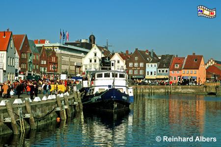 Husum - Hafen, Schleswig-Holstein, Nordseeküste, Nordfriesland, Husum, Albers, Foto, foreal