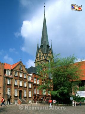 Flensburg - Südermarkt, Flensburg, Marienkirche, Nordermarkt, Ostseeküste, Albers, Foto, foreal,