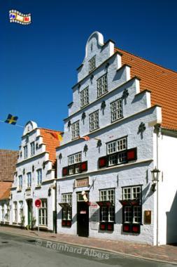 Tönning Bürgerhäuser, Tönning, Giebelhäuser, Treppengiebel, Albers, Foto, foreal,