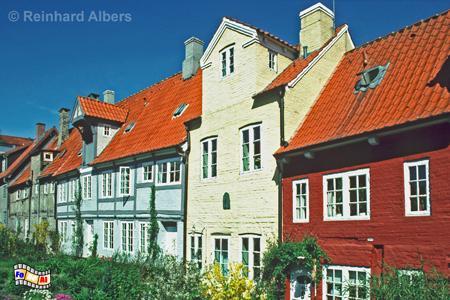 Flensburg: Oluf-Samson-Gang Rückseite, Schleswig-Holstein, Flensburg, Oluf, Samson, Gang, Albers, Foto, foreal,