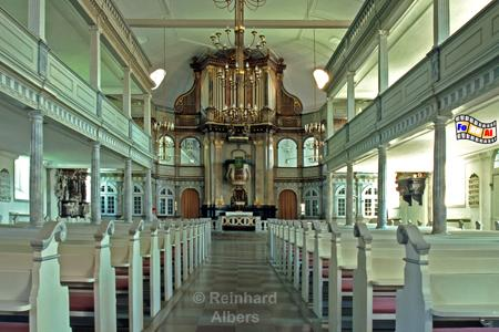 Kappeln - Nikolaikirche von innen, Kappeln, Nikolaikirche, Schlei, Schleswig-Holstein, Albers, Foto, foreal,