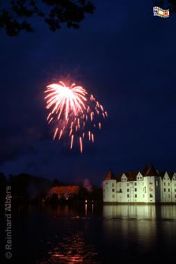Glücksburg - Feuerwerk zum Schlossjubiläum, Glücksburg, Schloss, Wasserschloss, Foto, foreal, Albers,