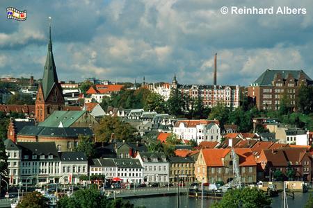 Flensburg, Flensburg, Hafen, Förde, Marienkirche, Schleswig-Holstein, Albers, Foto, foreal,