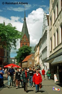 Flensburg - Fußgängerzone, Flensburg, Marienkirche, Ostseeküste, Albers, Foto, foreal,