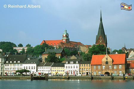 Flensburg - Blick vom Ostufer auf die Innenstadt, Flensburg, Hafen, Förde, Marienkirche, Schleswig-Holstein, Albers, Foto, foreal,
