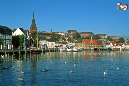 Flensburg Förde Hafen, Flensburg, Hafen, Förde, Marienkirche, Schleswig-Holstein, Albers, Foto, foreal,