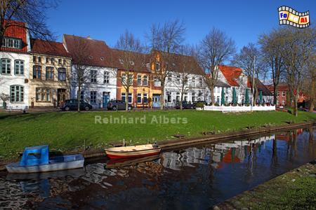Friedrichstadt - Mittelburggraben , Schleswig-Holstein, Friedrichstadt, Grachten, Foto, Albers, foreal,