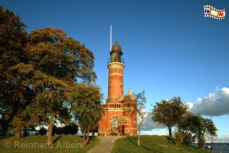Leuchtturm von Kiel-Holtenau an der Nordseite der Einfahrt zum Nord-Ostsee-Kanal., Kiel, Kiel-Holtenau, Nord-Ostsee-Kanal