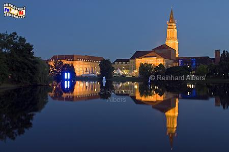 Kiel, Rathaus und Oper am Kleinen Kiel, Kiel, Rathaus, Oper, Kleiner Kiel