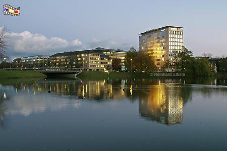 Kleiner Kiel mit HSH Nordbank, Kiel, Kleiner Kiel, HSH-Nordbank, Lichtinstallation