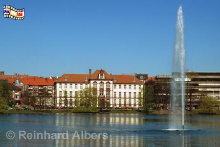 Kleiner Kiel mit Justizministerium im Hintergrund., Kiel, Kleiner Kiel, Justizministerium, Albers, Foto, foreal,